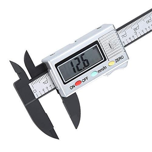 Huhu833 Digitale Messschieber,100mm LCD Digital Messung Werkzeug Schieblehre Mikrometer mit Elektronischer Carbonfaser Messschieberlehre (B)