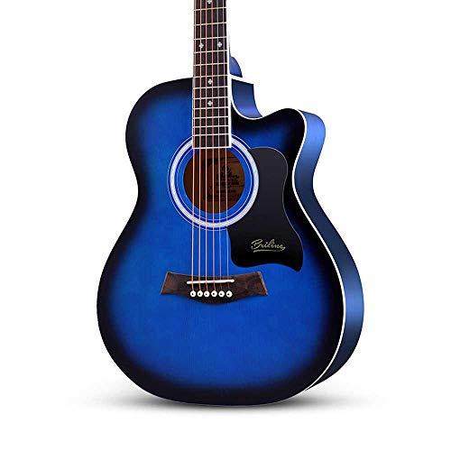 Boll-ATur 41-Zoll-Akustikgitarre Fichtenpaneel Anfänger Erste Schritte Akustikgitarre Unisex Traveller-Gitarre Homeschooling Palisander-Griffbrettgitarre (Color : Style 6 40 inches)