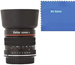 Vivitar 85mm f/1.8 Medium Telephoto Manual Focus Aspherical Lens for Canon EOS Rabel, 7D, 70D, 50D, 40D, 30D, 20D, 10D, 60Da, 60D, T5i, (700D) T5, (1200D) T4i, (650D) T3i, (600D) T3, (1100D) T2i, (550D) T1i, (500D) SL1, (100D) XS, (1000D) XSi, (450D) XTi, (400D) XT, (350D) Digital SLR Cameras