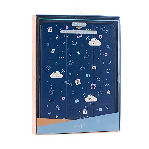 Mr. Wonderful Funda Tablet - Tipo Libro con Diseño Nubes de Color Azul Compatible con iPad 9,7' Pulgadas