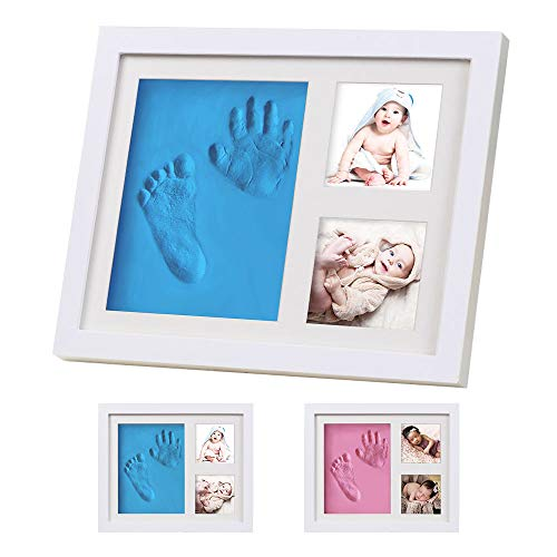Baby Hand and Footprint Kit, Baby Handprint Kit Picture Frames, Baby Shower Decorations for Girl & Boy, Baby Footprint Kit...