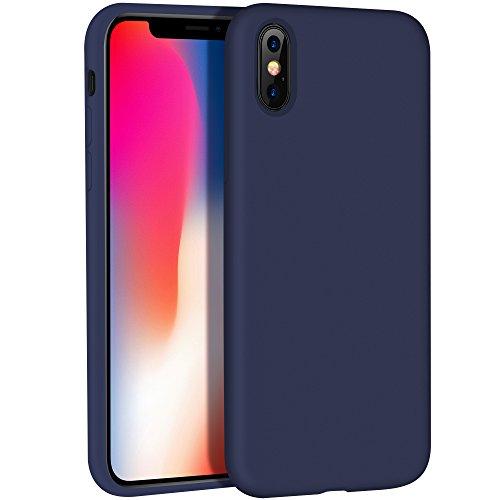 Coque iPhone X, hoco. iPhone 10 Cover Gel de Silicone Liquide Mat Anti-choc...