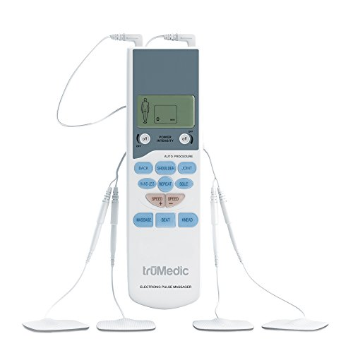 TENS Electronic Pulse Unit & 4 Electrode Pads, Model # PL-009, For Muscle Stiffness, Soreness, Aches...