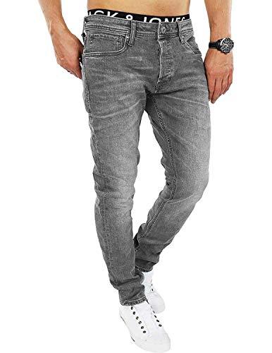 JACK & JONES Herren Slim/Straight Fit Jeans Tim Original AGI 010 (38W / 32L, Grey Denim)