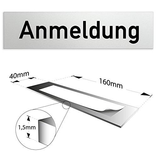 Aluminium Türschild