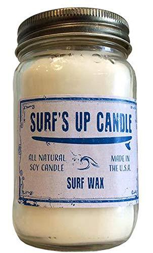 Surf's Up Mason Jar Candle Surf Wax 16oz