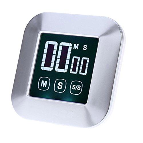 knowing Digitaler Küchentimer Magnetisch,Digital Touchscreen Hintergrundbeleuchtung LCD Küche Kochen Zeitschaltuhr,Countdown-Timer,Küchenuhr,Für Küche, Kochen, Backen