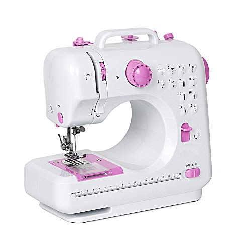 NEX Sewing Machine, Crafting Mending Machine, Children Present Portable with 12 Built-in Stitches
