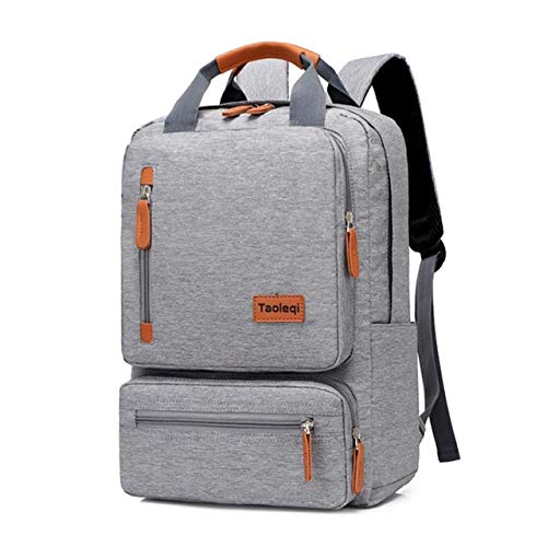 Mdsfe Casual Business People Computer Backpack Light 15.6 Inch Laptop Bag 2020 Lady Anti-Theft Travel Backpack Grey - Light Grey, A3