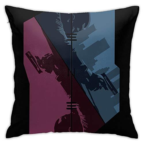 GAOXU Gun Showdown T-En-Et - Funda de almohada de doble cara para sofá, cama, silla de coche, picnic, camping, 45,72 x 45,72 cm