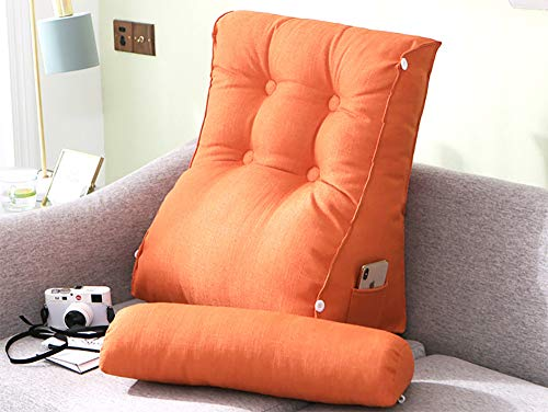 Alger Almohada de Lino con cabecera Ajustable, Soporte de Cintura Ajustable, Cintura Multifuncional, ventanal, cojín para sofá de Sala de Estar,H,55 * 60cm