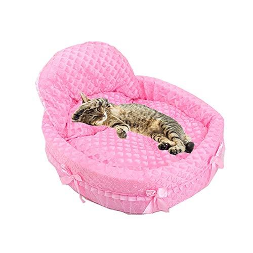 hundebetten für mittlere Hunde hundebett kleine Hunde Flauschiges Hundebett Prinzessin Haustierbett Hundebett Haustiernest Kätzchenbett pink