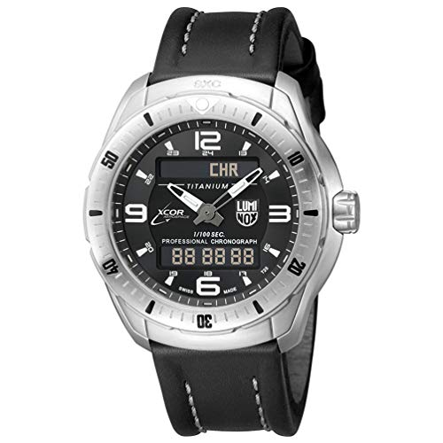 Luminox Silver Pilot Mens Watch Xcor Aerospace (5241.XS / 5240 Series) - Analog & Digital Display - Day Date Month Year Indication - Sapphire Crystal