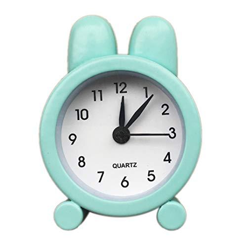 FENGCLOCK Mini Sveglia Piccola in Metallo, Sveglia Sveglia Portatile Sveglia da 5 cm, Sveglia da Bambino per Studenti, Orologio da Comodino, Mini Orologio da Tavolo con Sveglia,Green