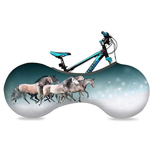 LUKUCEA Housse de Protection Universelle pour vélo d'intérieur, Couverture de Roue de Bicyclette Lavable Garde Les sols et Murs Propres - pour VTT, vélo de Route, vélo Pliant,H