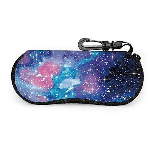 Undertale Annoying Dog Glasses Case With Carabiner Galaxy Lightweight Portable Neoprene Zipper Eyeglasses Bag Soft Sunglasses Case