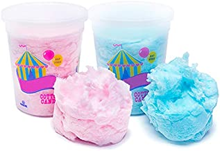JustSnackin' Cotton Candy, 2 - Tubs (2 oz each) 4 oz Total, Blue and Pink, Treat Ideas Included by JustHangin' Copyright 2019