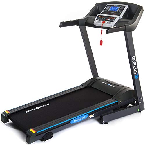 Goplus 2.25HP Electric Folding Treadmill with Incline, Walking Running Jogging Fitness Machine with Blue Backlit LCD Display for Home &...