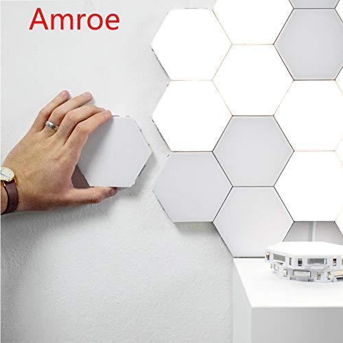 Amroe Quantum Hexagonal DIY Geometrie Magnetische Montage Modulare Kreative Wand 3D LED Nachtlicht USB Tischlampe Kinder Geburtstagsgeschenk Nachtdekoration am Bett