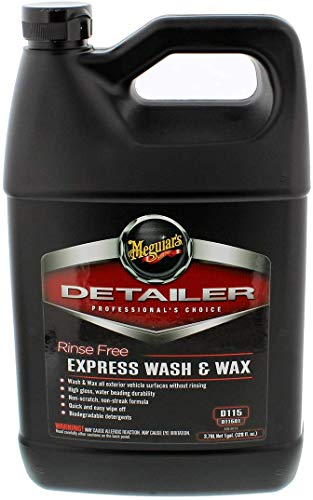 Meguiar's D11501 Detailer Rinse Free Express Wash & Wax Trockenwäsche, 3,79 L