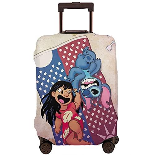Lilo & Stitch - Funda protectora para maleta (lavable, diseño 3D, 4 tamaños, para la mayoría de bolsas protectoras con cremallera