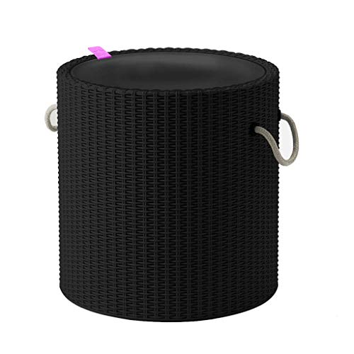 Keter Knit Cool Stool Outdoor 39L Cool Bar Ice Cooler Garden Furniture - Graphite