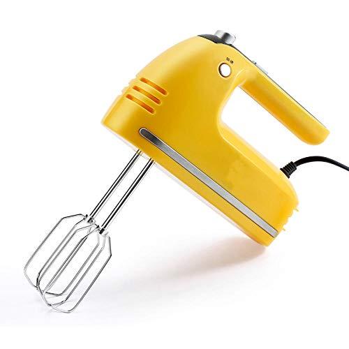 CHQQI Egg Beater Electric 200W Drehzahlstabil Elektrisch,Milchaufschäumer Caso Backen Mit Fünf Geschwindigkeiten,Quirler Elektrisch Handheld Automatisch