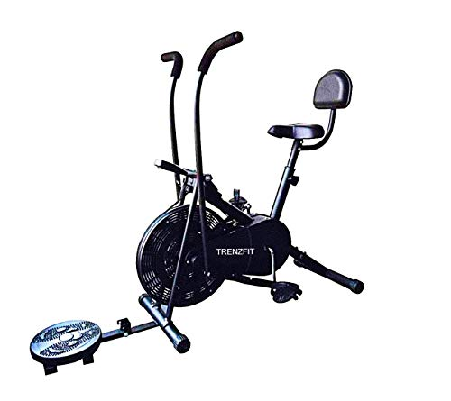 TRENZFIT Air Bike with Back Support AB-304 |Twister| Exercise Cycle| Moving Handle Gym Bike| Cardio...