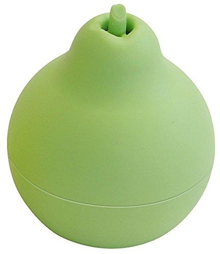 Fackelmann Fruchtfliegenfalle TECNO, Obstfliegenfänger ohne Gift, Insektenfalle in Birnenoptik (Farbe: Grün), Menge: 1 Stück