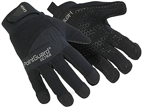 HexArmor PointGuard Ultra 4045 Police Search Gloves with Needle and Puncture Resistance, Small