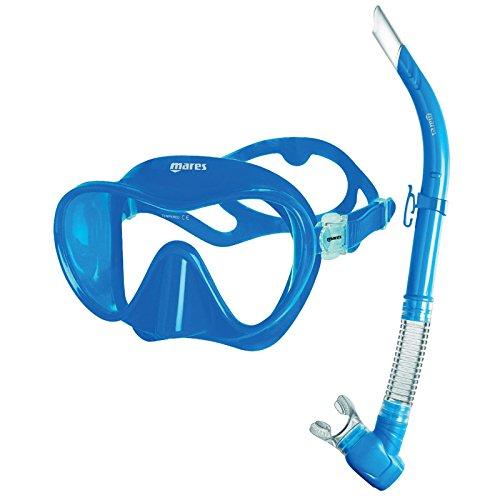 Mares Tropical Máscara de Buceo y Snorkel, Unisex Adulto, Azul, Talla estándar