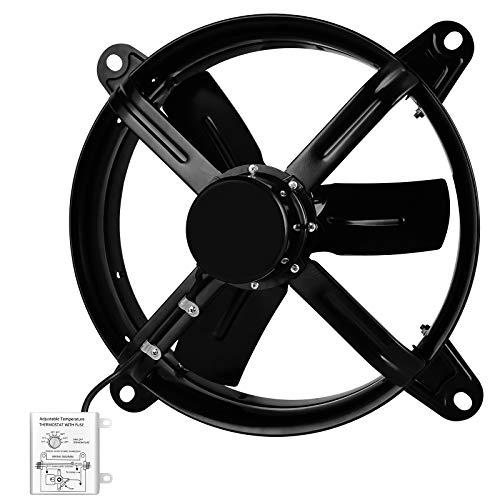 HealSmart 14 Inch Mount Fan Attic Gable Ventilator with Adjustable Temperature Thermostat, 1239 CFM,...