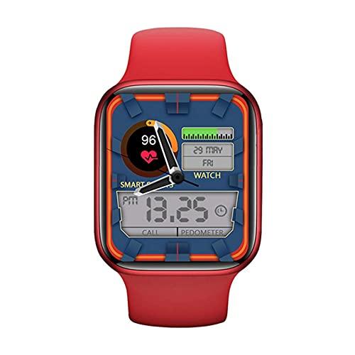 LLM Reloj Inteligente DW35 2021 Pantalla Cuadrada de 1,75 Pulgadas 44MM Llamada Bluetooth Reloj para Hombre para Mujer Temperatura Corporal aplicable a Android iOS(H)