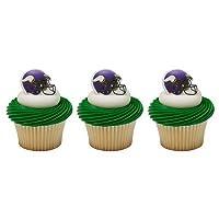 NFL Minnesota Vikings Football Helmet Cupcake Rings - 24 pcs