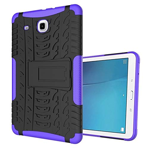 QiuKui Tab Funda para la lengüeta E 9.6 T560 T560 T561 SM-9.6 Pulgadas, la Tableta de TPU + PC a Prueba de Golpes Cubierta del Soporte para la lengüeta E 9.6 SM-T565 (Color : Purple)
