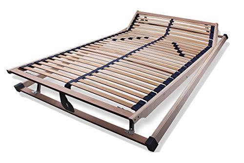 lifestyle4living Qualitäts-Schichtholz-Lattenrost, Mittelzonenverstärkung verstellbar, Kopf und Fußteil stufenlos verstellbar, Maße: 120 x 200 cm