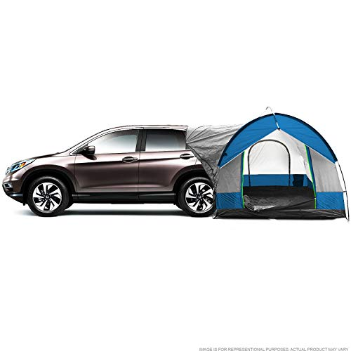 North East Harbor Universal SUV Camping Tent - Up to 8-Person Sleeping Capacity, Includes Rainfly and Storage Bag - 8' W x 8' L x 7.2' H - Gray and Blue