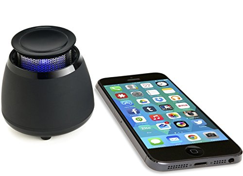 Wireless Bluetooth Speaker- BLKBOX POP360 Hands Free Bluetooth Speaker - for iPhones, iPads, Androids, Samsung and All Phones, Tablets, Computers (Bumpin' Black)
