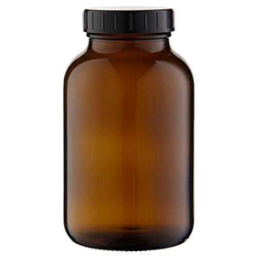 1 x Weithalsflasche 1000ml Braunglas inkl. Schraubverschluss mit Dichtungsscheibe *** Weithalsflaschen, Schraubgläser, Weithalsgläser, Braunglasflaschen, Glasdosen, Allzweckgläser, Haushaltsgläser, Weithalsglas, Schraubglas, Allzweckglas, Haushaltsglas, 1 Liter, 1l, 1000 ml, 1Liter ***