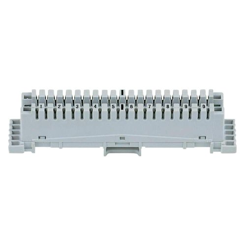 3M LSA+2-Anschlussleiste 10DA o. FC Raster: 22,5mm schwarze Ziffern 1-0 ohne Farbcode