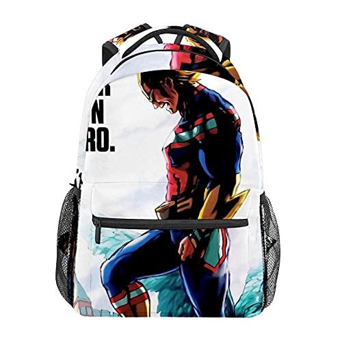 Anime Academia All MightBackpack zaino scuola elementare adolescente ragazzo scuola scuola scuola bambini borsa a tracolla viaggio laptop zaino