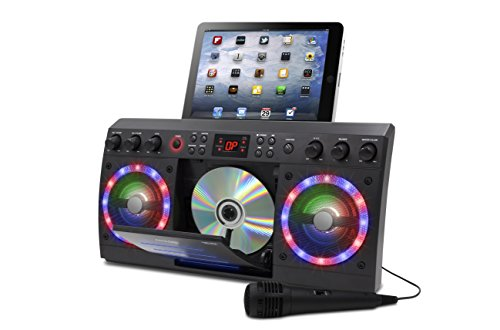 iKaraoke KS303B-BT Bluetooth CD&G Karaoke System, Black