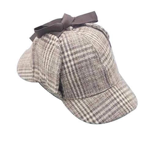 Divertidos Sombreros del Partido Sherlock Holmes Sombrero Detective Sherlock Holmes Gorra De Cazador Sombrero Tweed