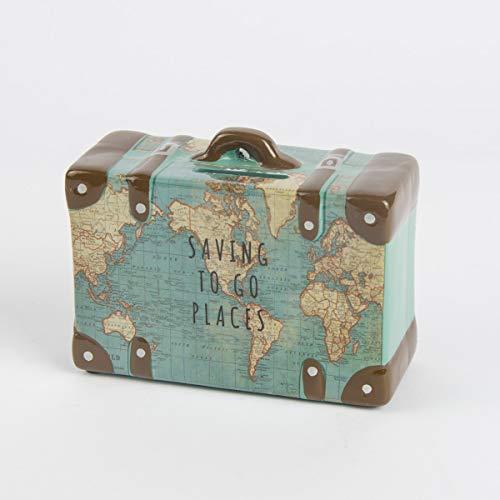 Hucha Mapa del Mundo maletín Saving to go Places 13x 10x 6cm