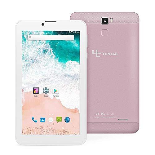 YUNTAB E706 7 Zoll Tablet, RAM 1 GB + ROM 16 GB, mit Dual-SIM-Steckplatz, WLAN, Bluetooth, Unterstützung von 2G, 3G-Anruf, Android 7.0-System (Rosegold)