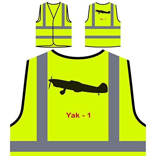 Yak - 1 Feuerwehrflugzeug Plane Pilot Jet Vintage Personalisierte High Visibility Gelbe Sicherheitsjacke Weste c646v