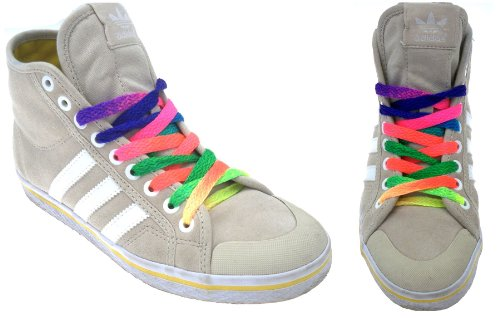 REGENBOGEN Farbe Schnürsenkel - Kräftige Farben Neon Flache Schnürsenkel 90cm (1 Paar)