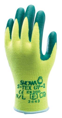 Showa S-TEX 350-xl S-TEX 350Guanti di resistenti ai tagli, Giallo/Verde, Taglia XL
