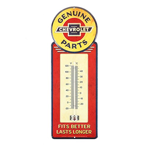 Open Road Brands Chevrolet Genuine Parts Metal Wall Thermometer
