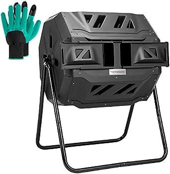 Vivosun Tumbling Composter Dual Rotating Batch Compost Bin
